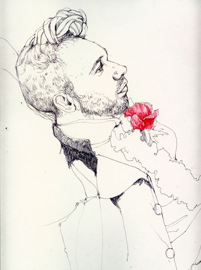 drawings, portrait, biro, ink, black and white, man, contemporary, cool, people, life drawing, dandy