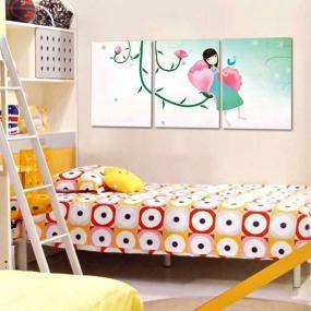 Quadri con fata dei fiori 40x60 cm per 3 pannelli shi 194 quadri per bambini pinterest - Quadri per camera bambini ...