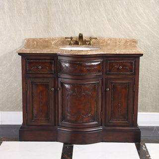 Natural Stone Top 36 Inch Single Sink Vintage Style Bathroom Vanity Half Size Vintage Bathroom Vanities Unique Bathroom Vanity Traditional Bathroom Vanity