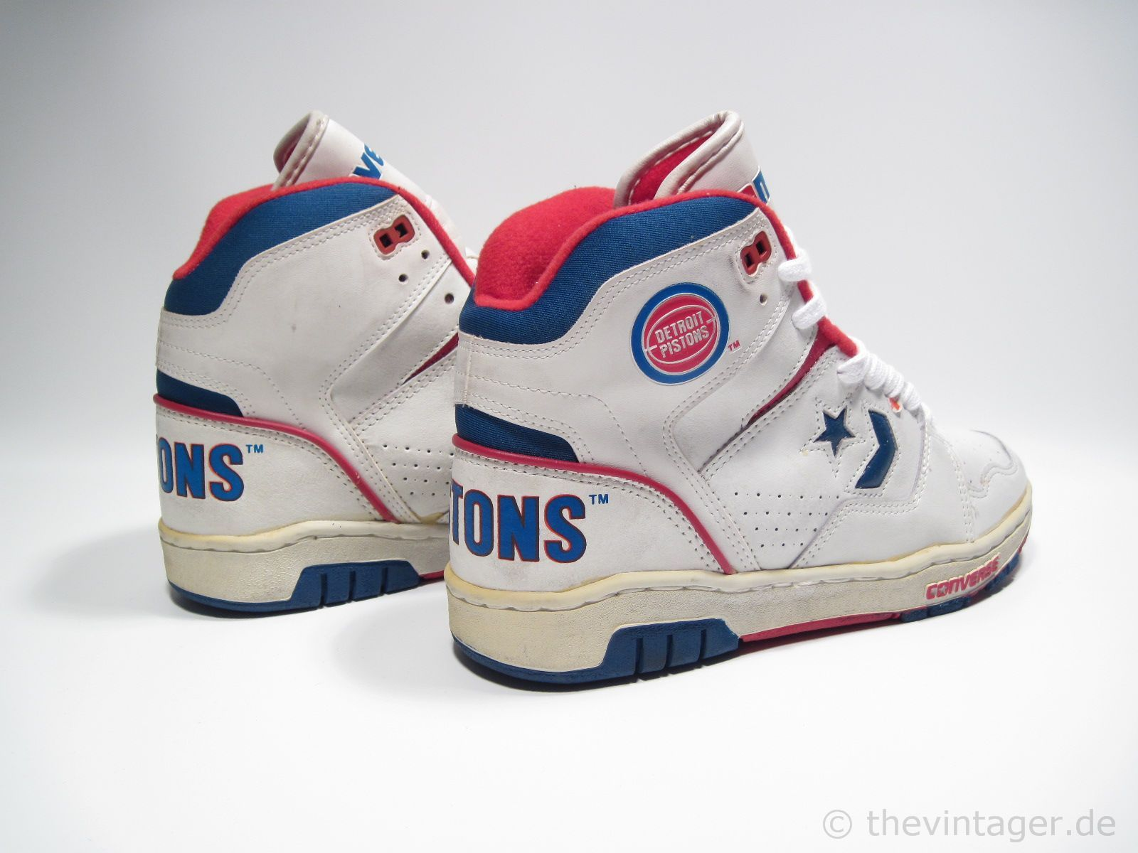 1980s Converse Basketball Shoes | CONS DETROIT PISTONS - thevintager ...