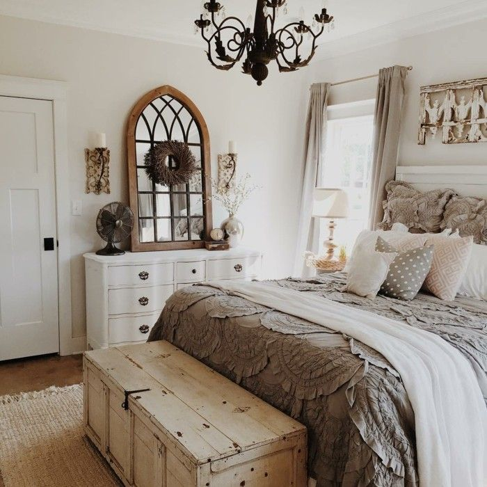 Photo of Schlafzimmer Landhausstil – 55 Beispiele für gemütliches Schlafzimmerdesign