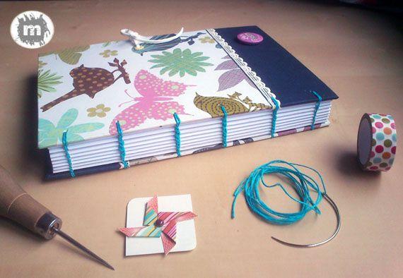Cuaderno copto http://artesanio.com/murice-regalos-especiales/cuaderno-copto-mariposas+108938