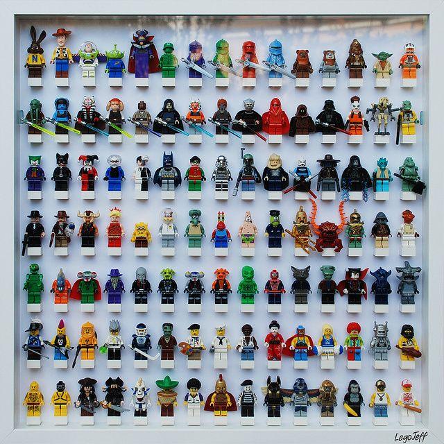 un cadre pour exposer ses figurines lego lego pinterest figurine lego lego et figurine. Black Bedroom Furniture Sets. Home Design Ideas