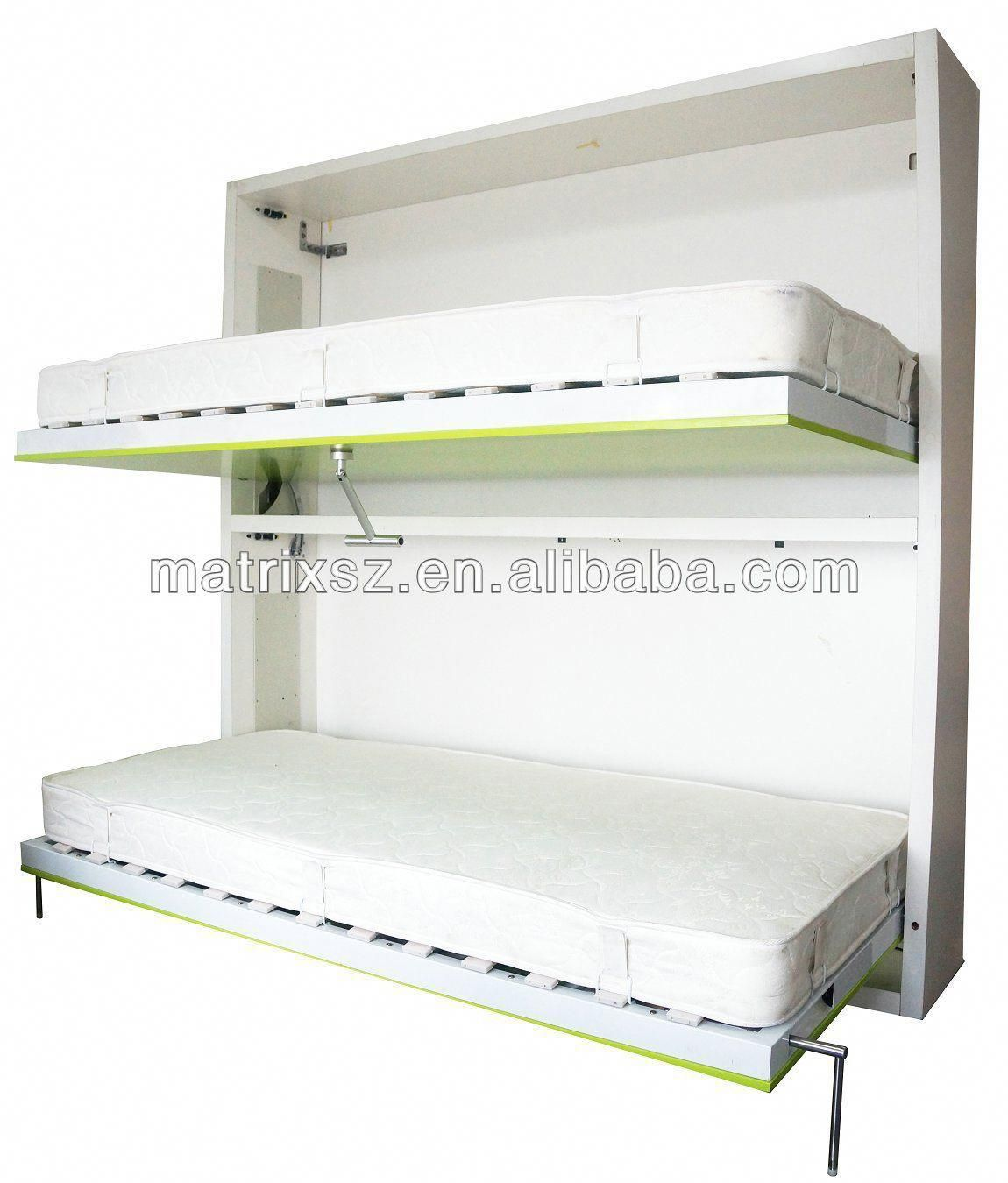 Bunk horizontal double wall folding bed wall bed china murphy bed