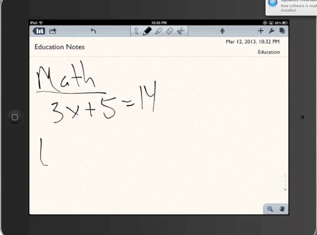 How to use Notability on the iPad as a digital note taking application.