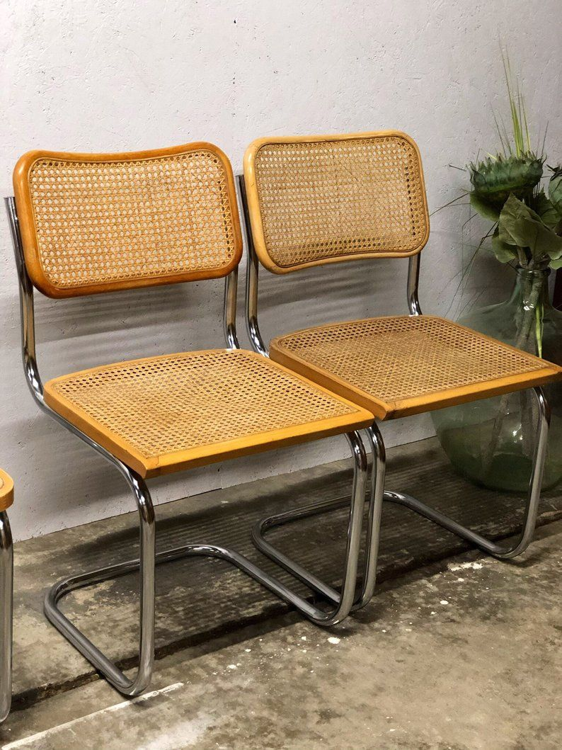 Astounding Vintage Cesca Style Cane Cantilever Chairs Sold In Habitat Download Free Architecture Designs Rallybritishbridgeorg
