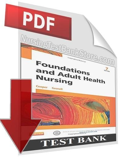 Digital Test Bank  Foundations And Adult Health Nursing 7th Edition