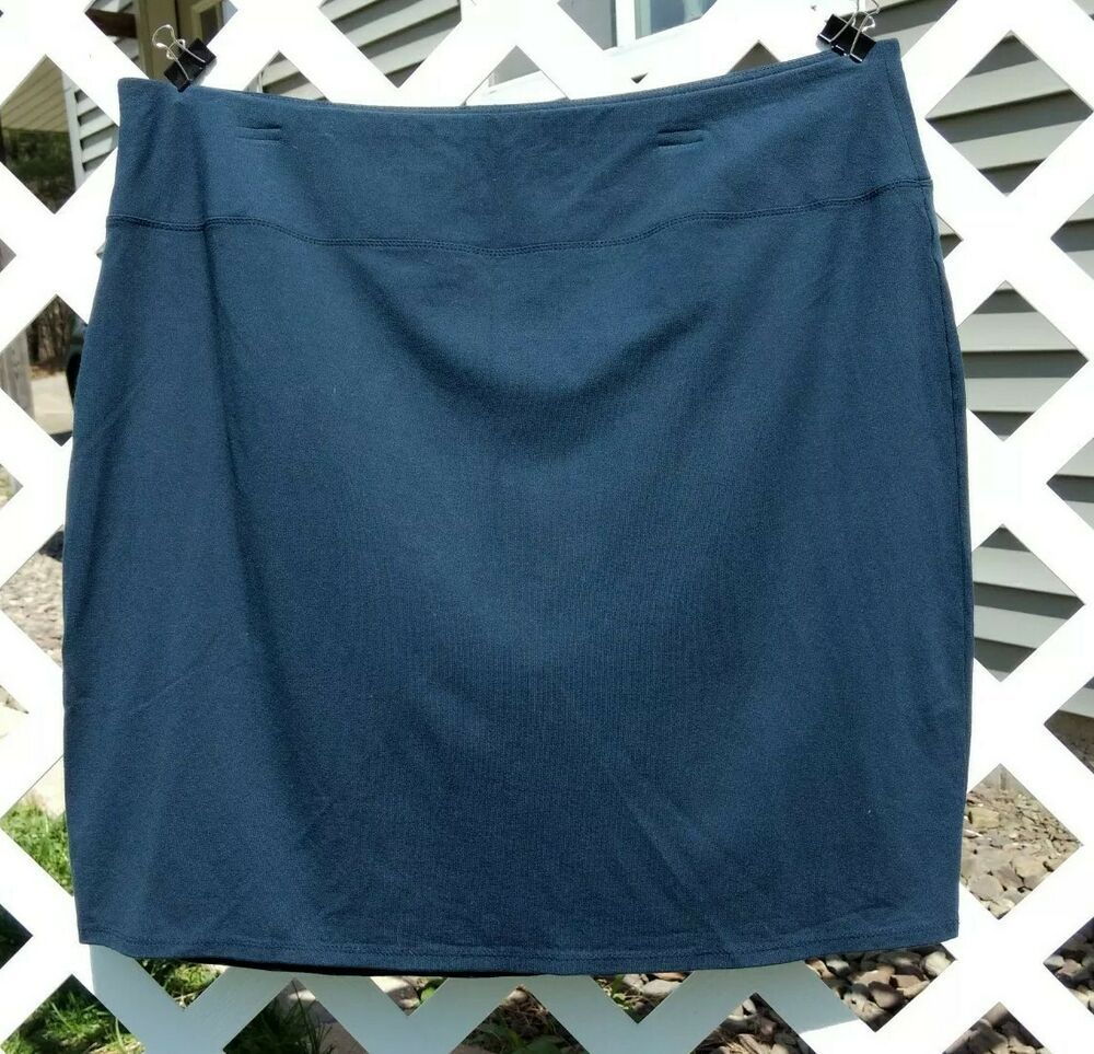 49f840ad7c J. Jill Wearever XL Petite Navy Blue Stretch Smooth Fit Pencil Skirt  #fashion #