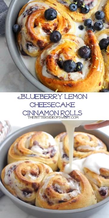 Lemon Blueberry Cheesecake Cinnamons Rolls