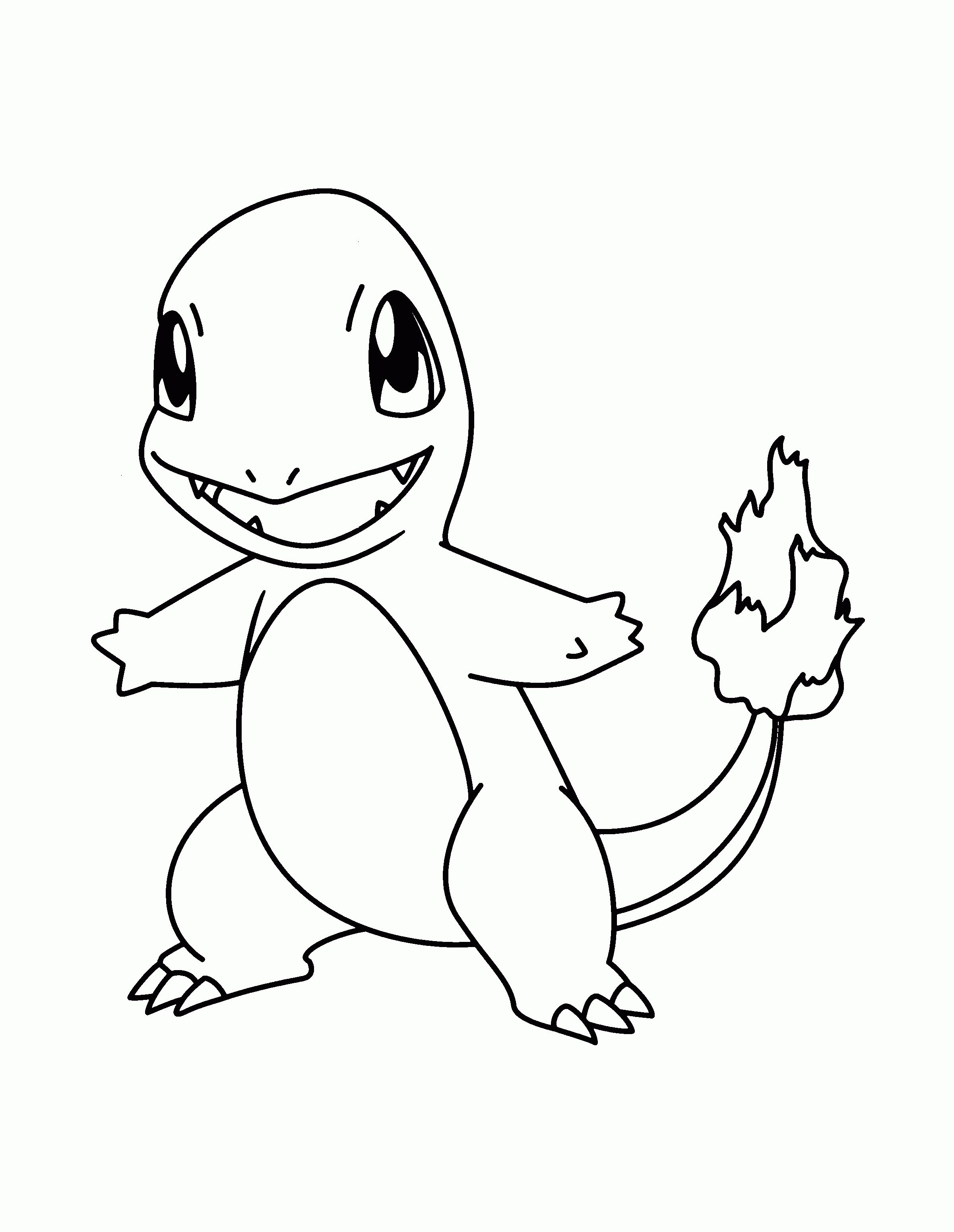 Kleurplaten Pokemon Squirtle.Pokemons Kleurplaten Charmander Pokemons Pokemon Coloring Pages