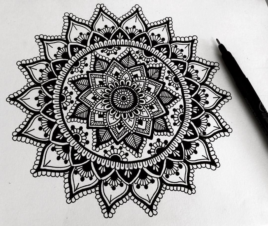 22 Mandala Tattoo Designs Ideas: Hey Guys, Just A Little Black And White Doodle, Trying To