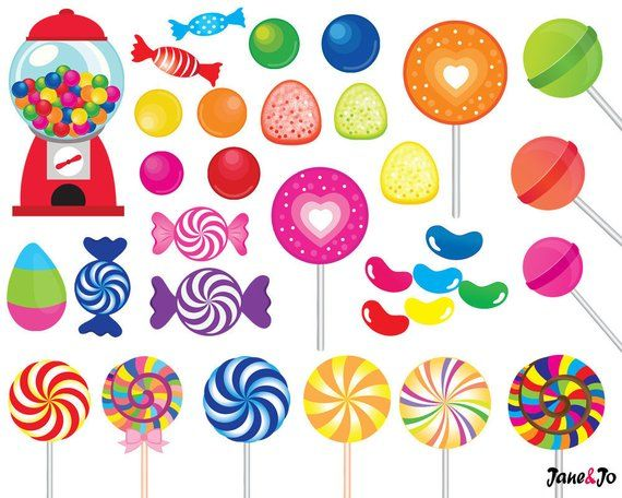 graphic relating to Printable Clip Art titled 52 Sweet clipart,sweet clip artwork,printable,lollipop clipart