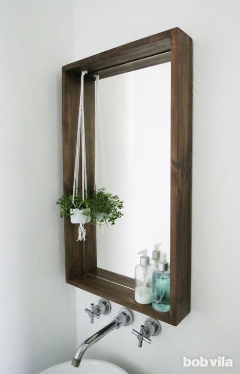 How to Frame a Bathroom Mirror—with a Ledge images