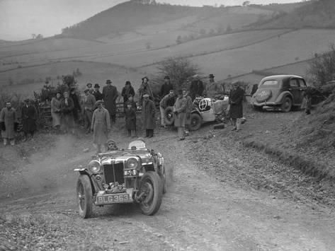 Photographic Print Mg Pa Of J Twyford Competing In The Mg Car