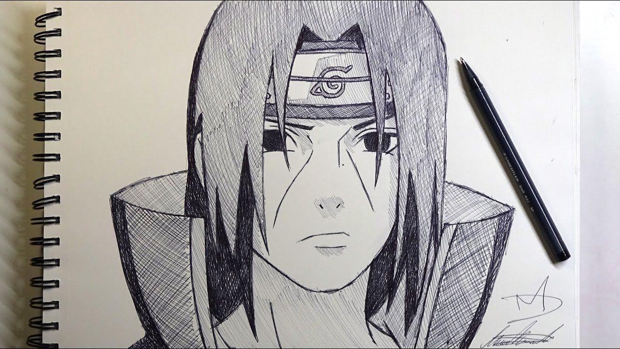 Let S Sketch Itachi Uchiha From Naruto Demoose Art Itachi Uchiha Art Naruto Painting Naruto Sketch