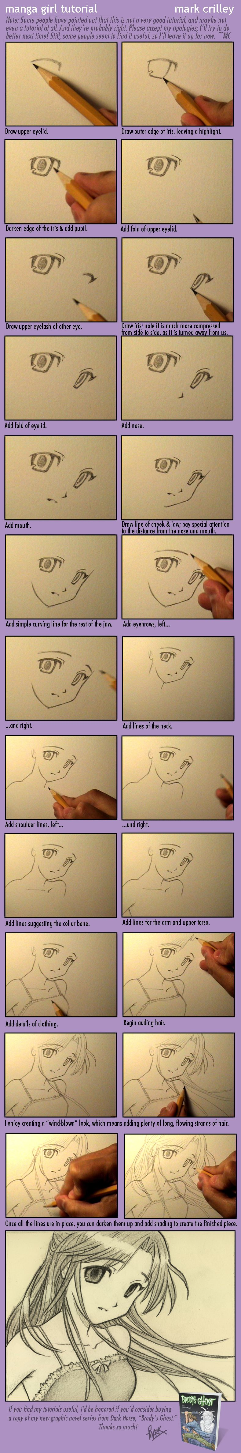 Manga Girl Tutorial by markcrilley.deviantart.com on @deviantART