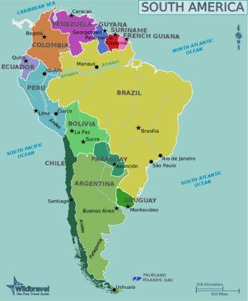 South America travel guide - Wikitravel | Amerika sut in ...