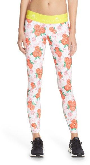 bbb8daaa58 Love these fun floral leggings with elastic waist band. adidas by Stella  McCartney Climalite ® Sport Tights