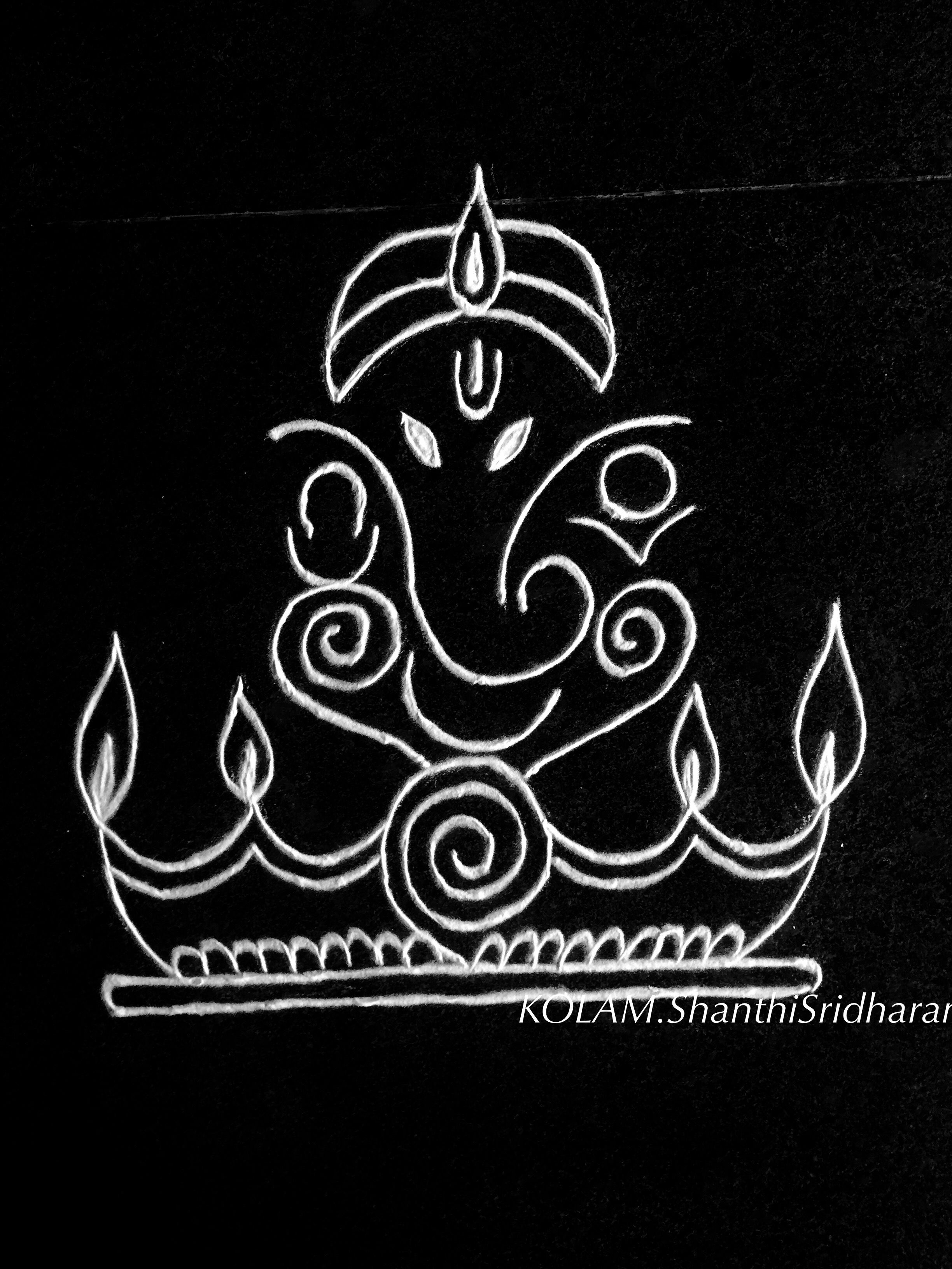 Pin by Shanthi Sridharan.KOLAM on Black and white Kolam ...