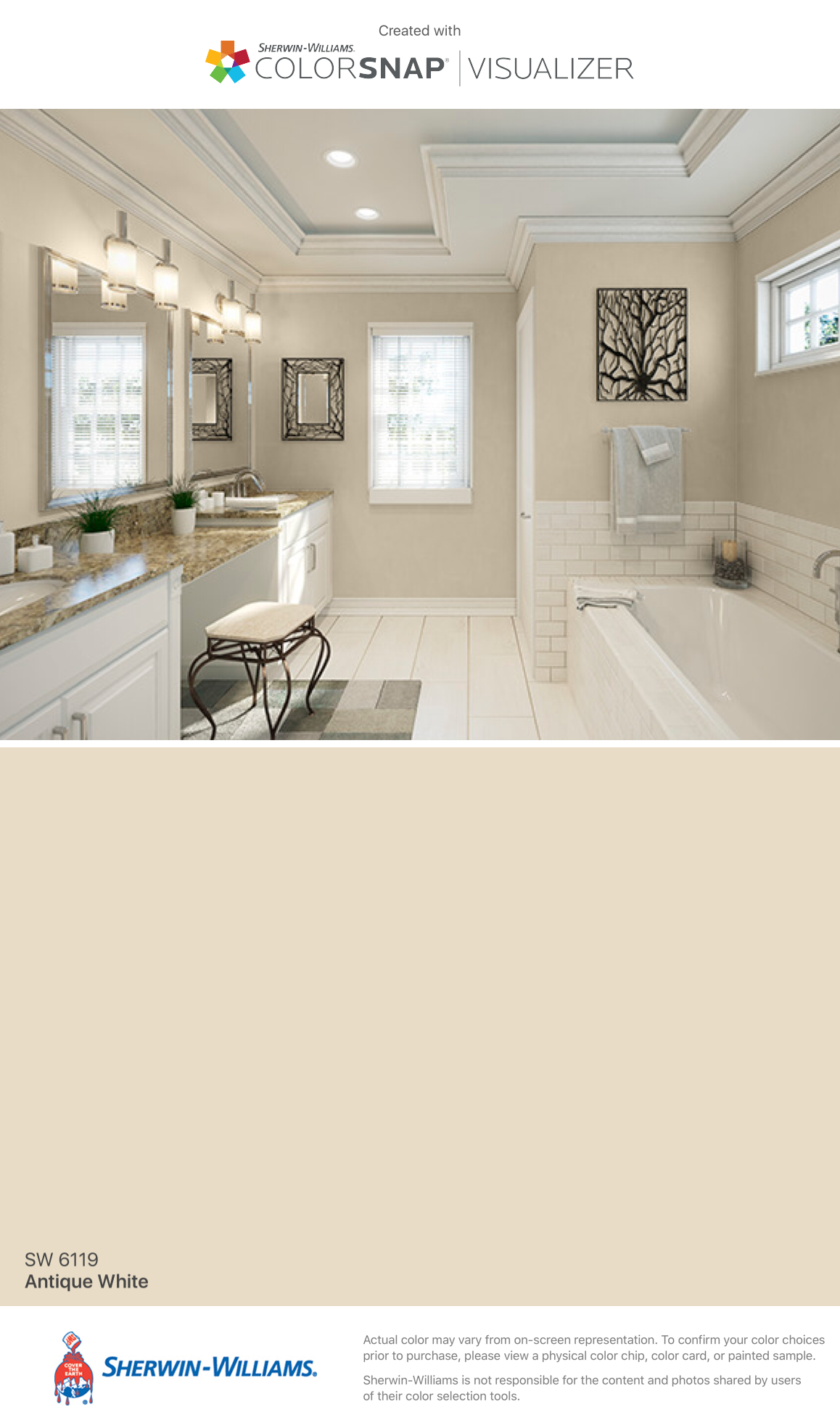 I Found This Color With Colorsnap Visualizer For Iphone By Sherwin Williams Antique White Sw 6119