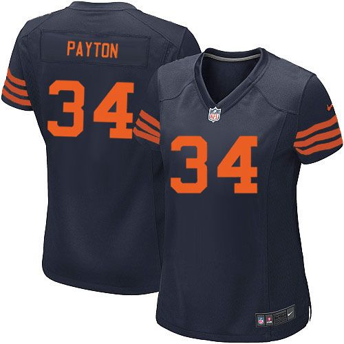 98ec08ad ... Nike Chicago Bears Walter Payton Elite 1940s Jersey Women Navy Blue 34  Alternate Throwback NFL Mens Nike ...