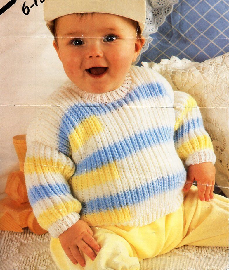 0357809c7 baby fishermans rib sweater knitting pattern pdf baby ribbed jumper ...