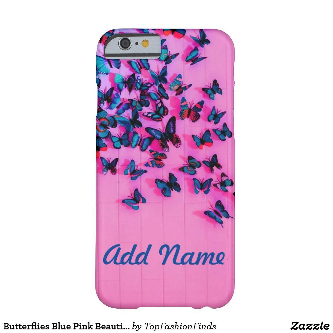 Butterflies blue pink beautiful casemate iphone case