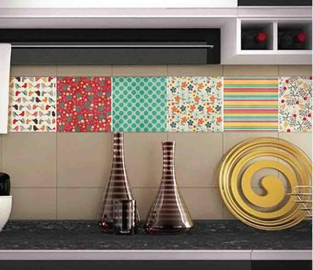 Azulejos de vinilo para redecorar la cocina home sweet for Vinilos pared azulejos