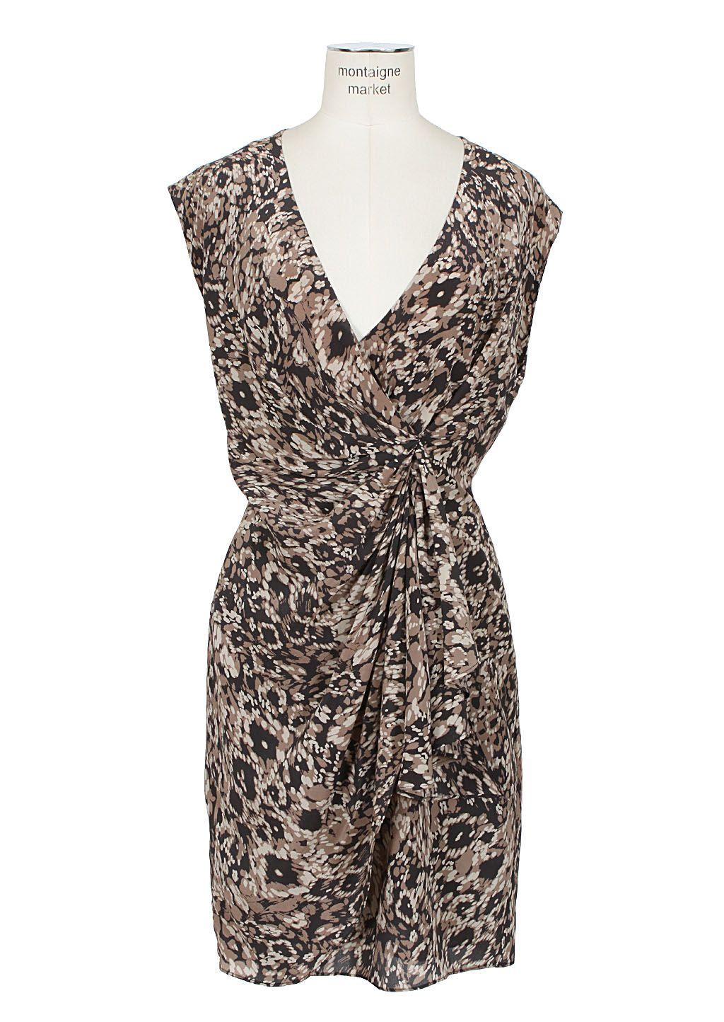 Rachel Zoe Dress :: Rachel Zoe printed draped dress | Montaigne Market
