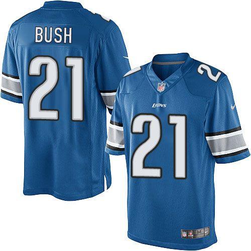 290c887cd ... discount code for limited mens nike detroit lions 21 reggie bush light  blue team color nfl