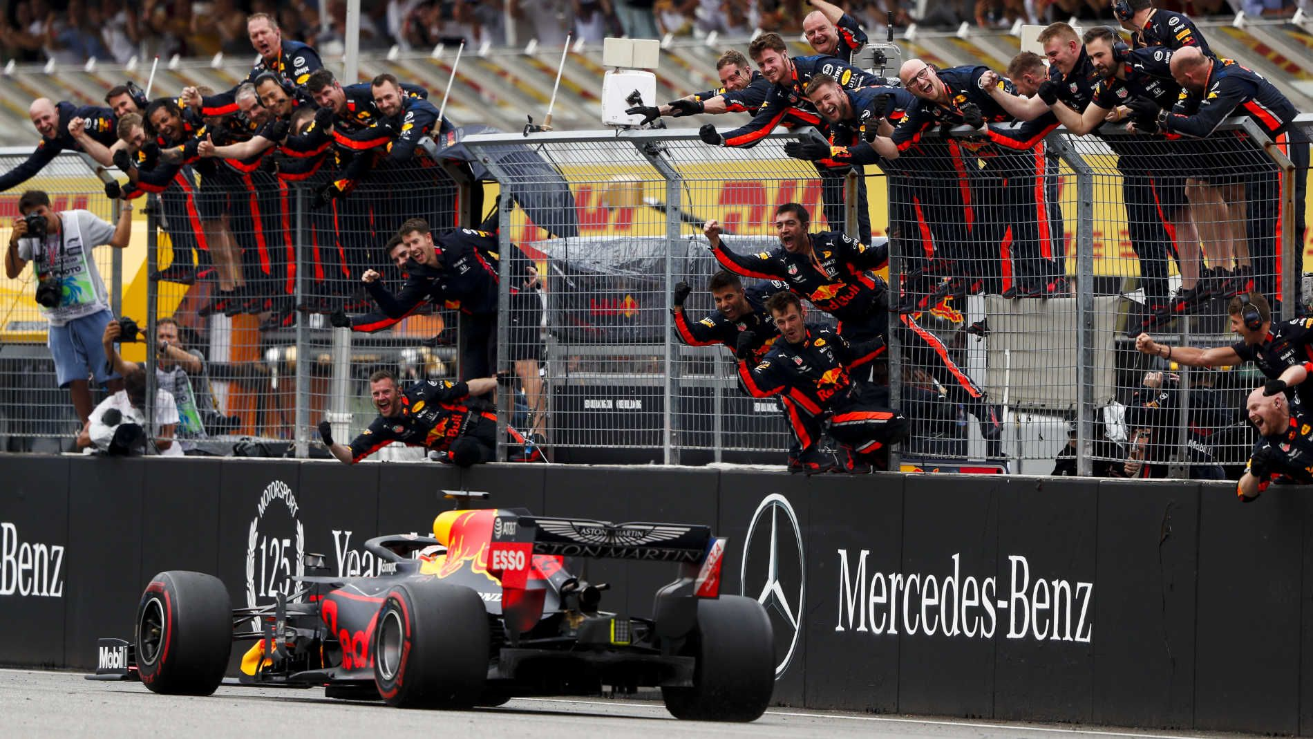 German Grand Prix 2019 Race Report Verstappen Storms To Sensational Win In Extraordinary Rain Hit German Grand Prix Formula 1 Max Verstappen Racing German Grand Prix