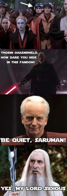 Star Wars Lord Of The Rings Star Wars Humor Star Wars Memes The Hobbit
