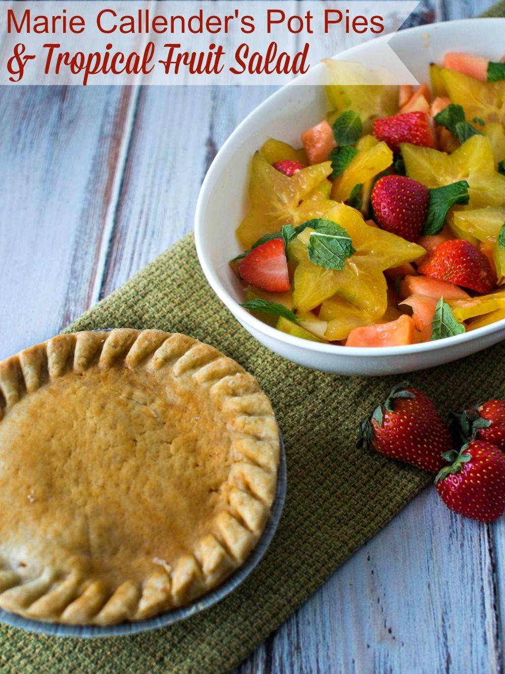 Marie Callender's Pot Pies & Tropical Fruit Salad  #EasyAsPotPie #Ad