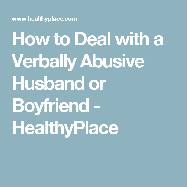 Bipolar wife verbal abuse