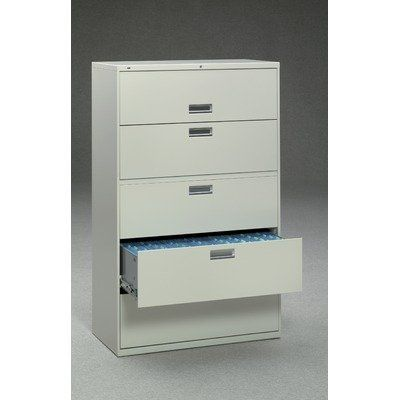 Hon 695lp 600 Series Five Drawer Lateral File 42w X19 1 4d Black By Hon 1136 32 Counterweight Included Where Applic Lateral File Filing Cabinet Drawers