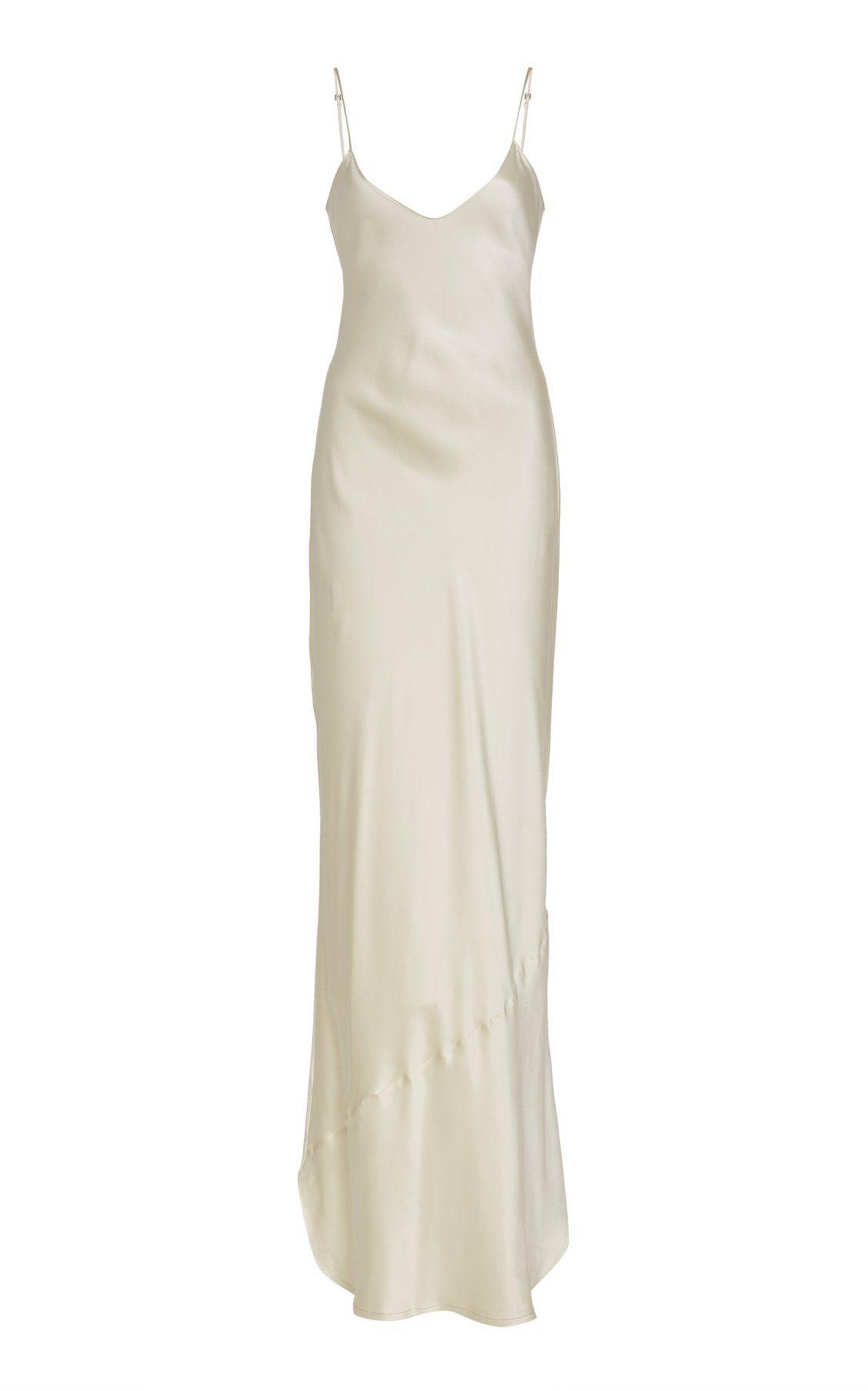 Cami Solid Silk Gown by NILI LOTAN PF19 | Moda Operandi