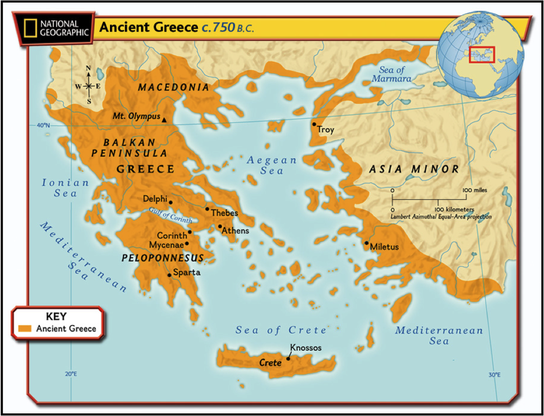 Image result for ancient greece map