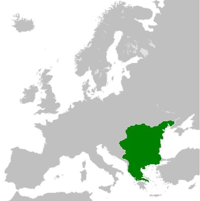 Map of the First Bulgarian Empire in Europe at the beginning of the - new world map blank wikipedia
