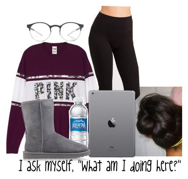 """""""Here-Alessia"""" by aribearie ❤ liked on Polyvore featuring Yummie by Heather Thomson, UGG Australia and Mykita"""