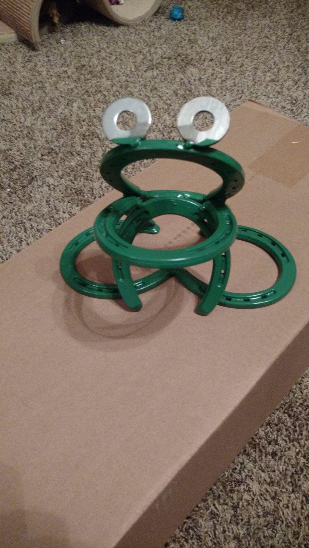 Horseshoe Frog By Lovetobuy2 On Etsy Welding Crafts Welding Projects Welding Art
