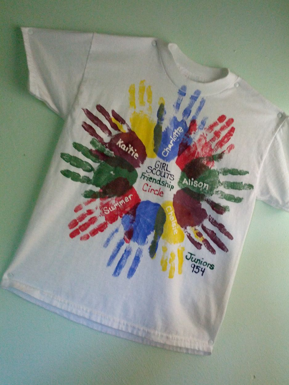 Friendship t shirt for daisy brownie or girl scout troop for Girl scout daisy craft ideas