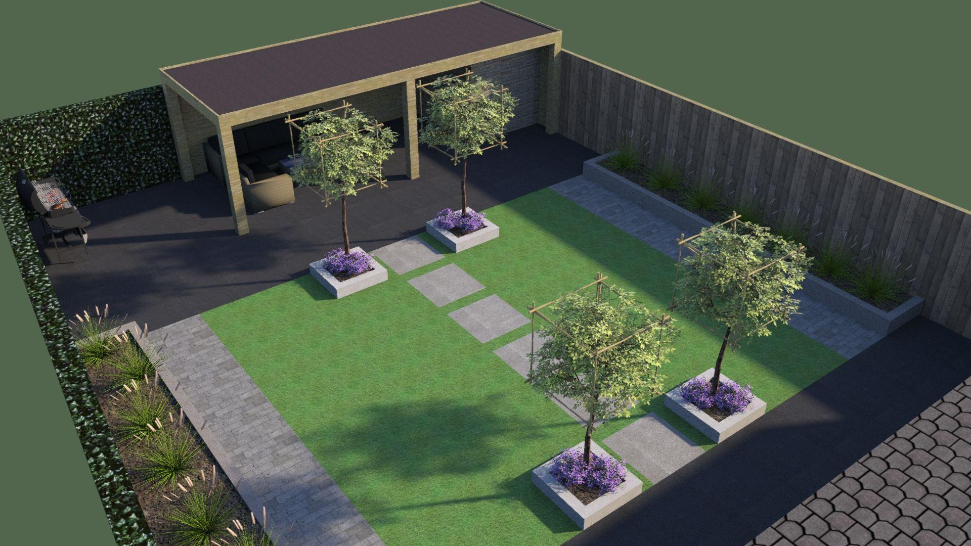 Tuin ontwerp culemborg jversteegh kert pinterest for Ontwerp tuin