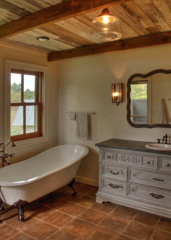 39 rustic farmhouse bathroom ideas to copy now