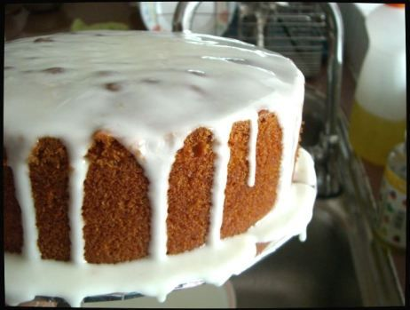 Delia Smith S Preserved Ginger Cake With Lemon Icing Food And Shit