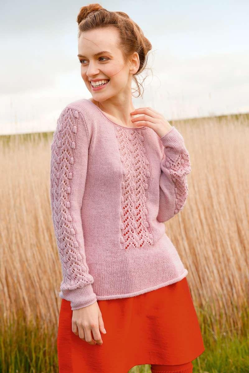 Pullover mit Lochstreifen | Sommer stricken, Pullover