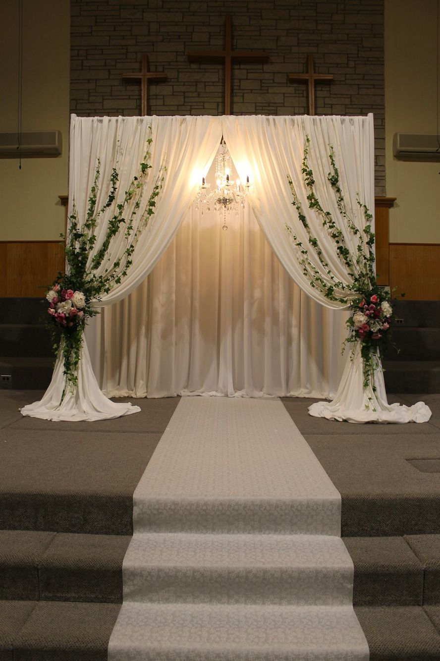 Wedding Ceremony Decor, Wedding Church