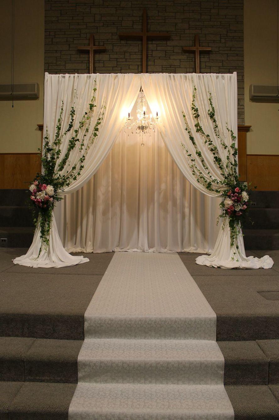 Wedding Ceremony decor, wedding church Cheap backyard