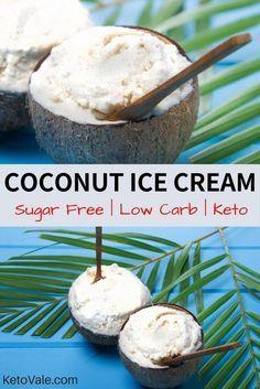 Keto Sugar Free Coconut Ice Cream #healthyicecream