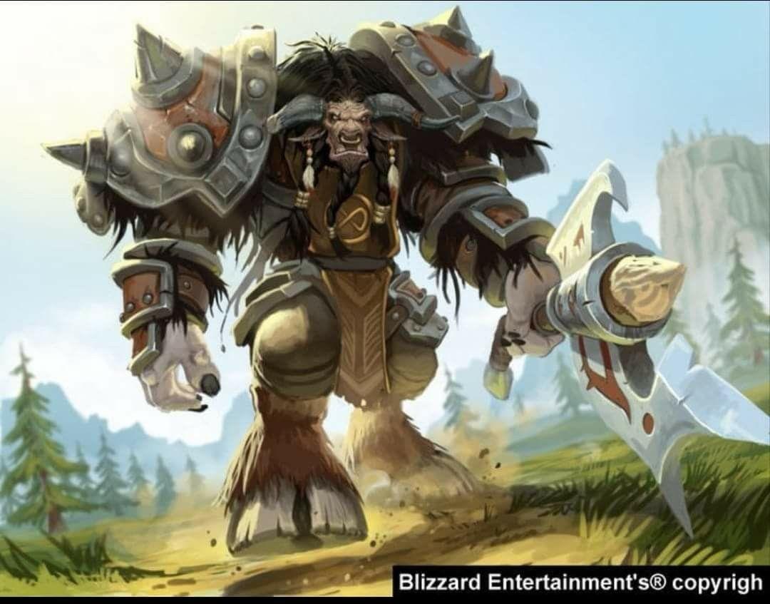 Tauren Warcraft Characters Tauren Warrior World Of Warcraft