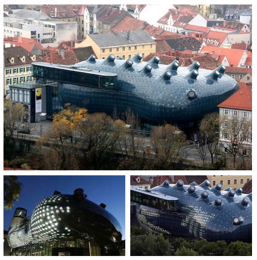 The Kunsthaus Graz museum in Graz, Austria, by Peter Cook and Colin Fournier. #austria #design #museum #architecture